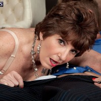 Milf over 60 Bea Cummins fucking a younger stud
