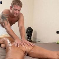 Blonde Over 60 MILF Regi doing a slow striptease to get naked for hot oil massage
