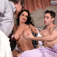 Busty mature wife Rita Daniels caught fucking young stud by cuckold husband