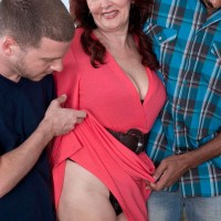 Over 60 grandmother Katherine Merlot stars in interracial MMF threesome