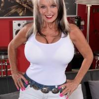 Chesty granny Sally D'Angelo stars in hot XXX mature porn scene