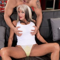 Chesty granny Sally D'Angelo stars in hot XXX mature porn scene