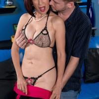 Petite Oriental MILF over 60 Kim Anh having nice granny tits exposed