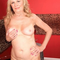 60 plus MILF Bethany James baring big natural tits and mature ass