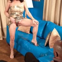 Busty 60plusmilf.com model Rita Daniels sucking and fucking a BBC