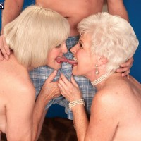Over 60 grannies Jewel and Lola star in mature FFM threesome