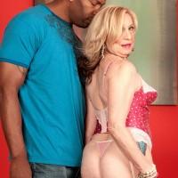 Hot mature pornstar Miranda Torri gets naughty with large black cock