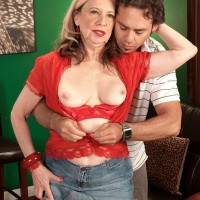 60 plus MILF Miranda Torri free big mature tits for erect nipple tonguing