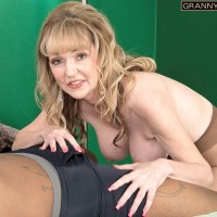 Sexy 60 plus woman Janee Diamond seduces a younger black stud