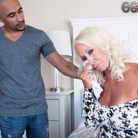 Hot over 60 lady Madison Milstar exposes her nice tits for a younger man