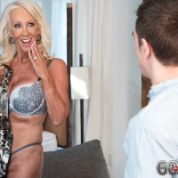 Hot 60 plus MILF Madison Milstar seduces a young boy in a bra and panty set