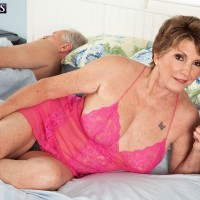 Over 60 MILF X-rated film star Jewel having massive titties liberated from dress in nylons and high heels