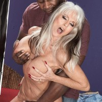 Buxom Sixty plus XXX adult starlet Sally D'Angelo gets drilled by a younger black guy