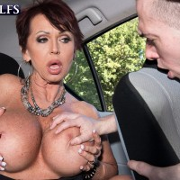 Fancy aged doll Gina Milano seduces a junior guy with her gigantic titties