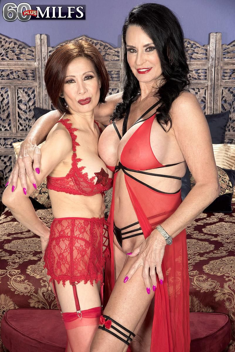 Super-sexy elderly dolls Rita Daniels and Kim Anh have a threesome with junior boy