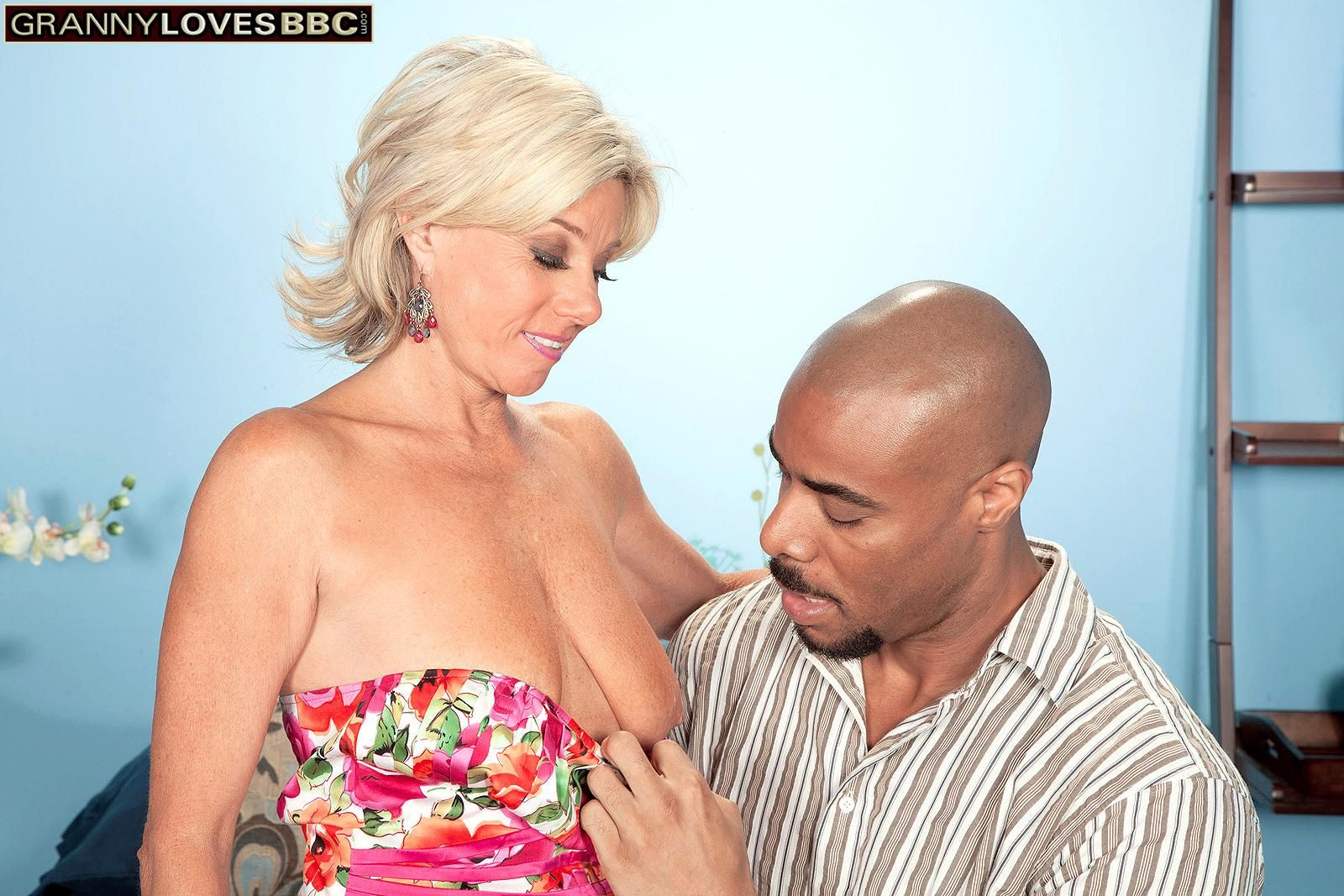 Beautiful aged broad Payton Hall is unclothed to thong bloomers by her younger black lover