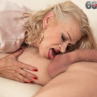Killer elder gal Beata gives a ball tonguing oral pleasure after seducing a junior guy