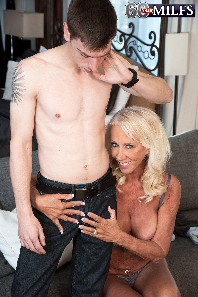 Sixty plus MILF Madison Milstar seduces her step-grandson in her bra and panties