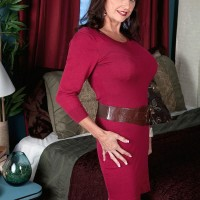 Mature 50 plus MILF Ciara is stripped to her bra and panties by her husband