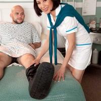 Over Sixty Nurse Kim Anh Sucks and Fucks The Cock