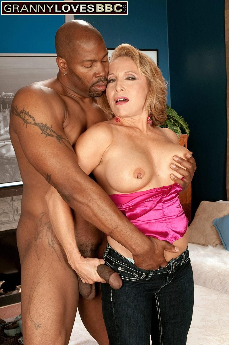 Beguiling experienced woman Luna Azul tempts a junior black guy in satin lingerie and denim jeans